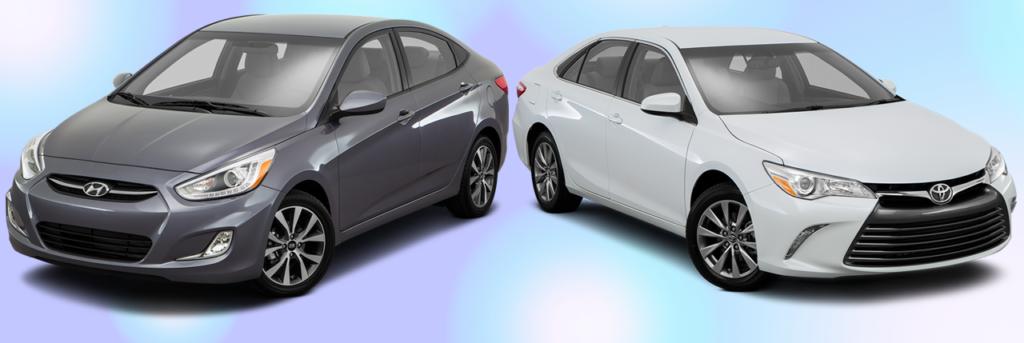 2016 Hyundai Accent vs Toyota Camry