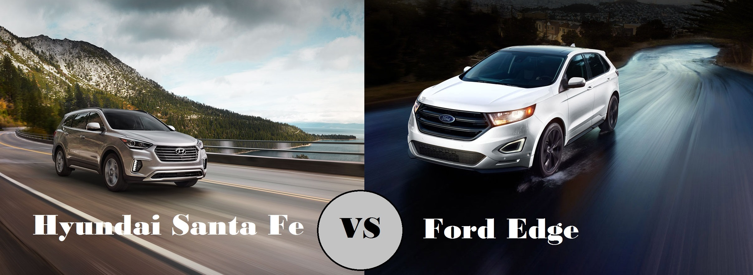 2017 Hyundai Santa Fe vs 2017 Ford Edge Tuscaloosa Hyundai