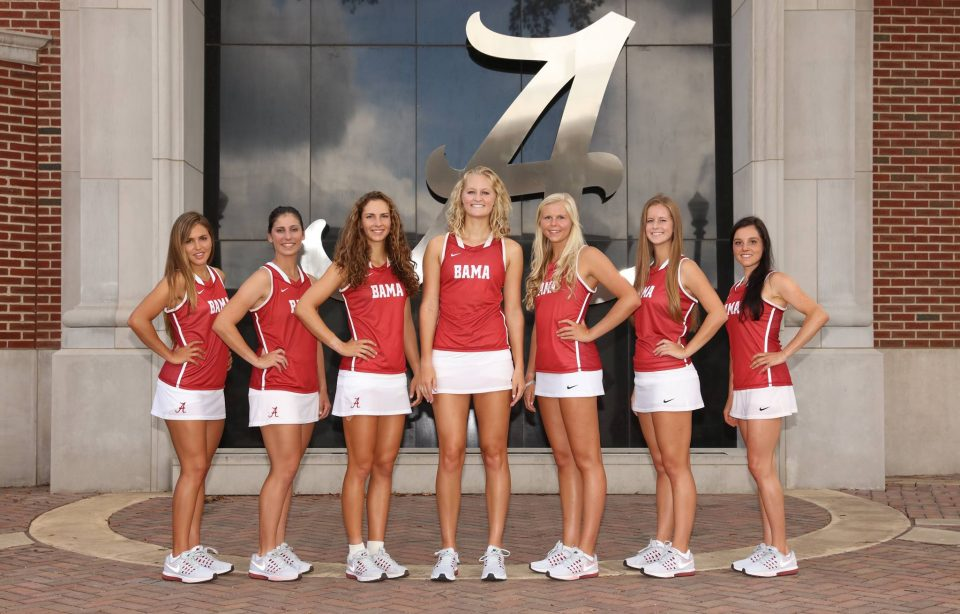 Univeristy of Alabama Womens Tennis Team
