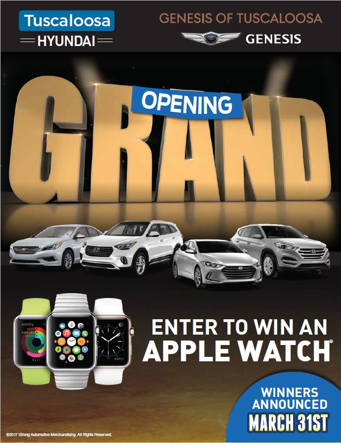 Tuscaloosa Hyundai Apple Watch Giveaway
